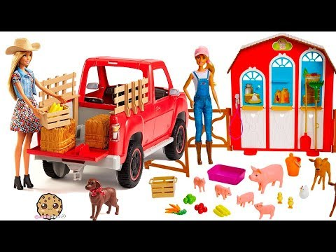 Barbie Sweet Orchard Farm Animal + Truck Sets - Review Video
