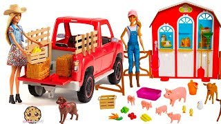 Baixar Barbie Sweet Orchard Farm Animal + Truck Sets - Review Video