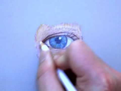 Colored Pencil Drawing Of An Eye Part 2 Youtube