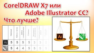 Что лучше CorelDRAW X7 или Adobe Illustrator CC?