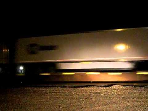 Westbound Z Train With An ATSF Dash 9