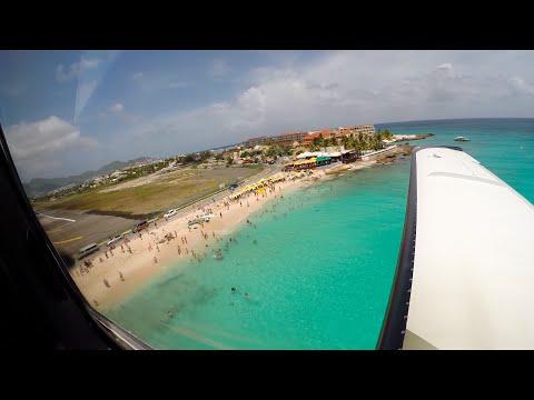 Flying to St Maarten / TBM850
