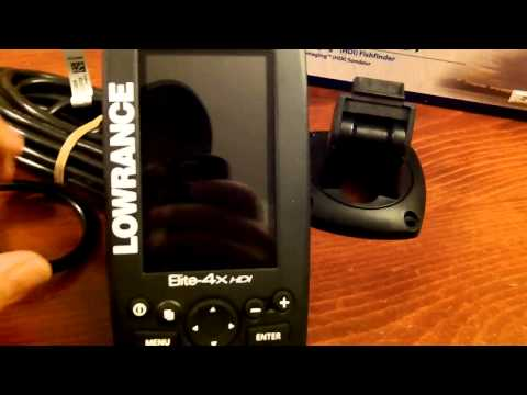 Unboxing & Comments on the Lowrance Elite 4x HDI Fish Finder - Sonar