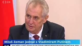 Vyčerpaný Zeman podruhé u Putina