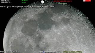 Scanning The Moon Surface LIVE! January 22, 2019