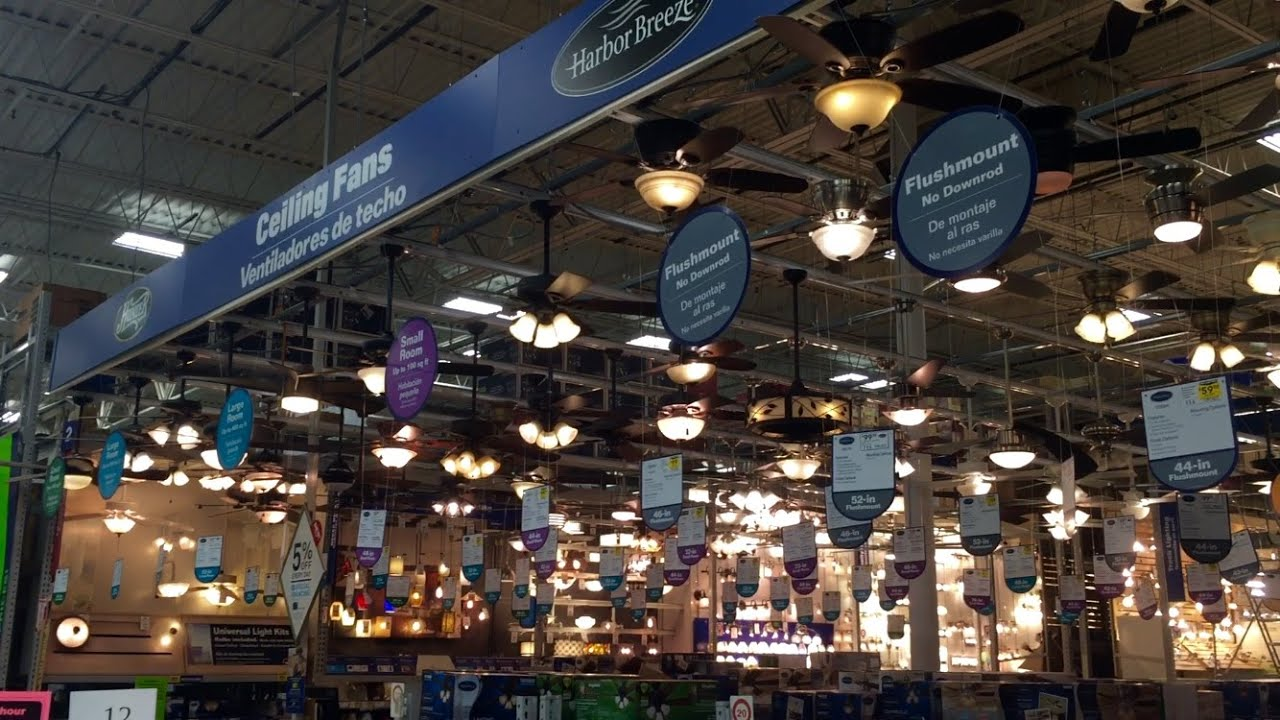 Lowes Ceiling Fan Dept 2016 Youtube