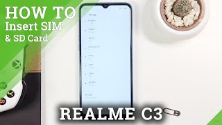How to Insert Nano SIM & Micro SD Card in REALME C3 – SIM & SD Cards Installation