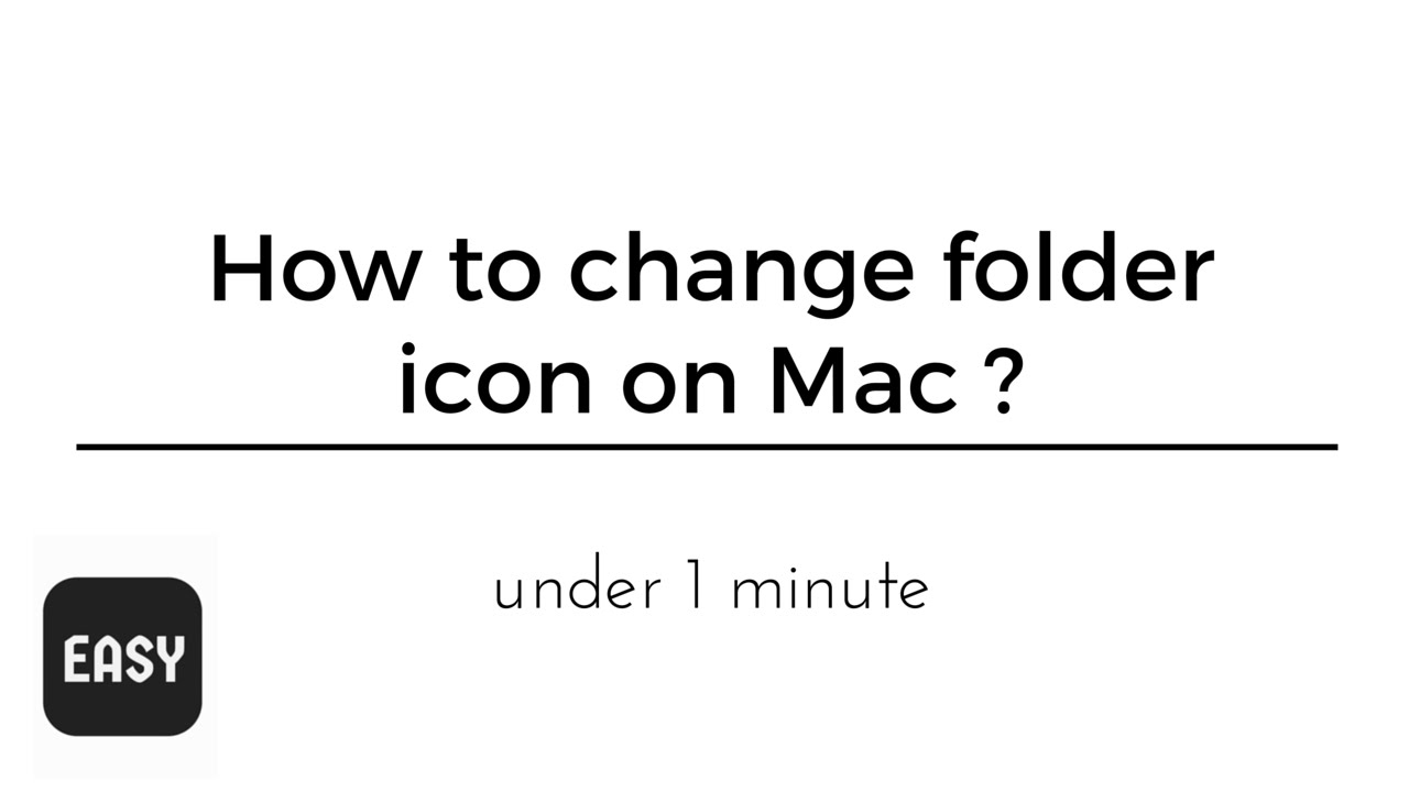 how to change mac folder icon under 1 minute youtube. Black Bedroom Furniture Sets. Home Design Ideas