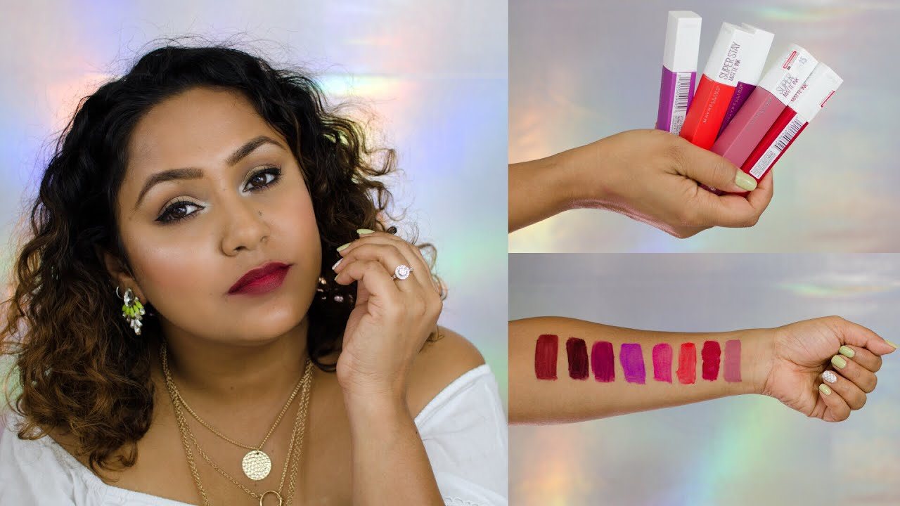 Maybelline Superstay Matte Ink Lipstick Swatches Review