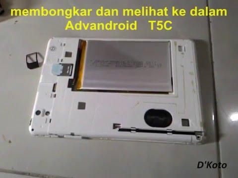 Membuka Tablet Advan Vandroid T5C sendiri