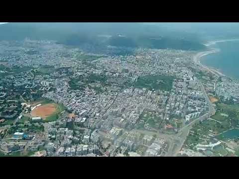 Flight Landing at Visakhapatnam Airport