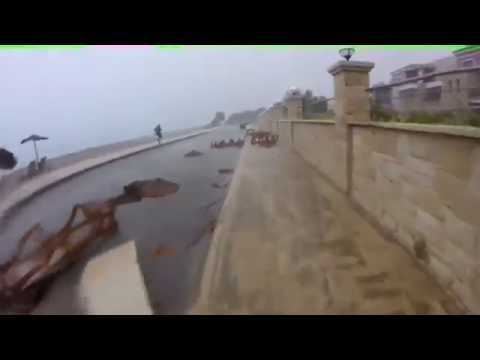 British Holiday-Forced to Take Shelter During Crete Storm