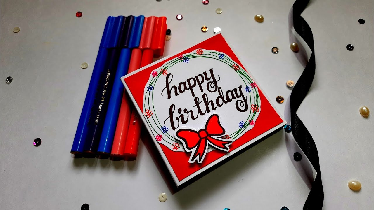 Beautiful Handmade Birthday Card | Easy to make Birthday card idea | Tutorial