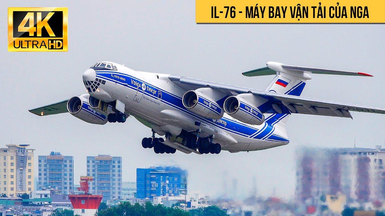 Ilyushin Il-76 | Máy Bay Vận Tải Cực Hiếm Cất Cánh Ở Tân Sơn Nhất | Spotting Vehicles