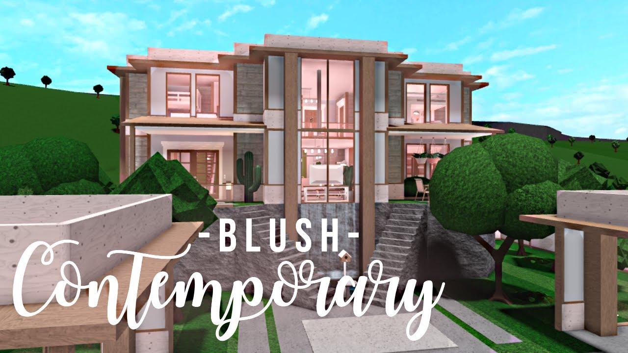 Bloxburg: Blush Contemporary Home (no advanced placing ...