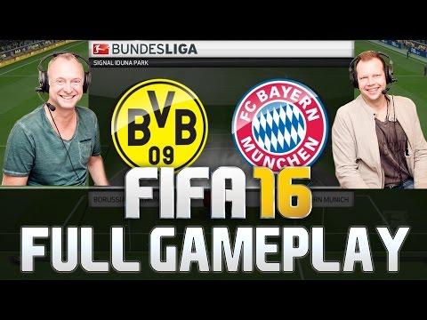 FIFA 16 FC BAYERN MÜNCHEN VS BORUSSIA DORTMUND DEUTSCHE KOMMENTATOREN FULL GAMEPLAY
