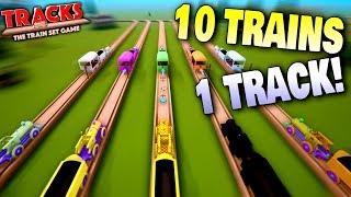 Too Many Trains On A Single Track! - Tracks - The Train Set Game Ep 11