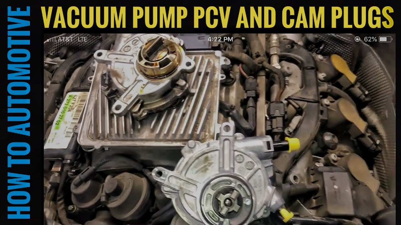 How to Replace the Vacuum Pump, Cam Plugs, and PCV Valve on a 2007-2014  Mercedes C300 (Common Leaks)