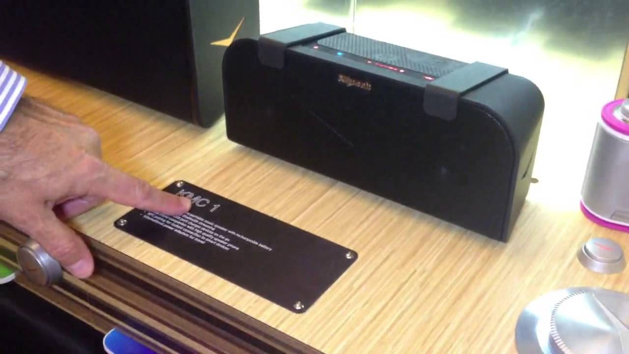 ifa 2013 klipsch presented 39 kmc 1 39 its mobile portable bluetooth speaker youtube. Black Bedroom Furniture Sets. Home Design Ideas