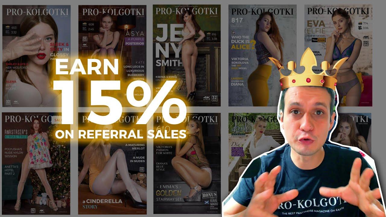 Earn 15% Commission on SELLING PRO-KOLGOTKI Pantyhose Magazine