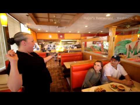 Saganaki - Major's Restaurant : Westmont, IL