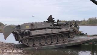 Dachs und Fuchs- Bundeswehr setzt über die Elbe