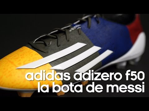 Review botas adidas adizero F50 Messi Solar gold-Earth green