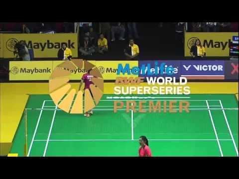 Li Xuerui vs Saina Nehwal   WS SF Match 1 - Maybank Malaysia Open 2015