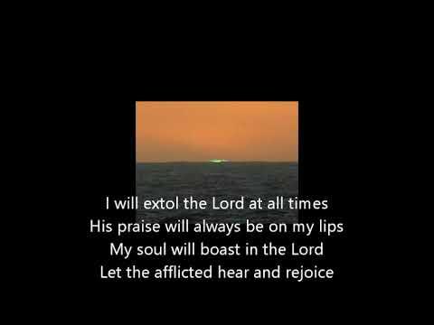Psalm 34 lyrics