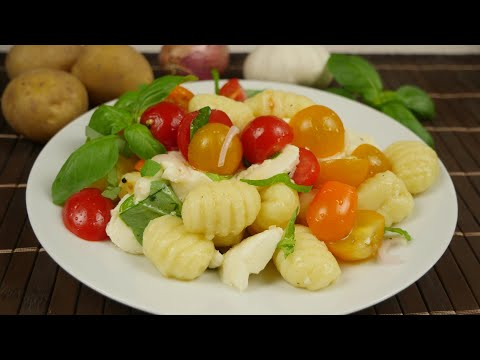 Gnocchi Salat | Tolle Alternative zu Nudel- oder Kartoffelsalat
