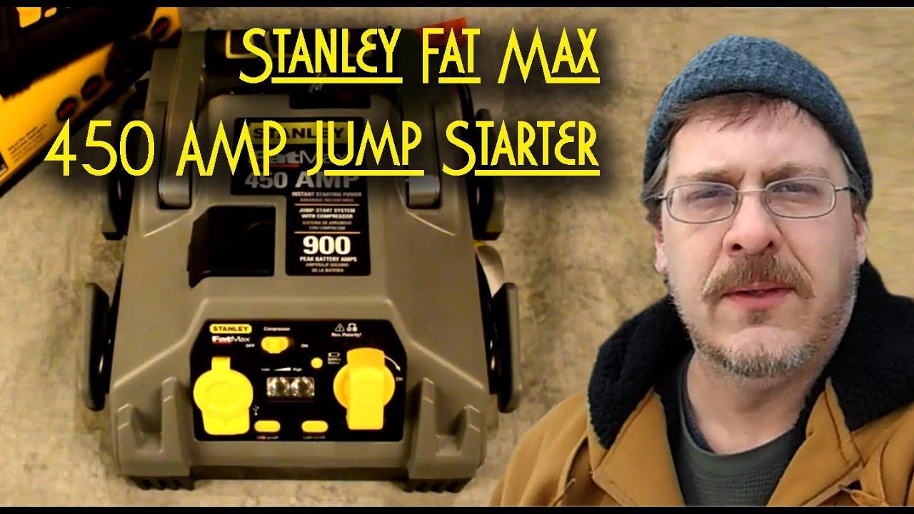 stanley fat max 450 amp jump starter compressor review youtube rh youtube com Stanley FatMax 450 Amp Jump Starter stanley 450 amp jump starter instruction manual