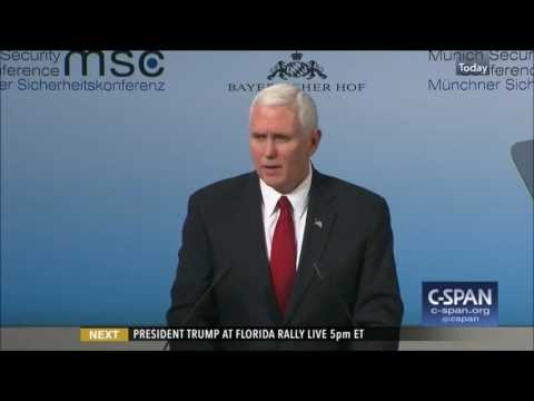 Vice President Pence Remarks at Munich Security Conference