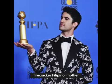 Darren Criss dedicates Golden Globes win to 'firecracker Filipino' mom Mp3