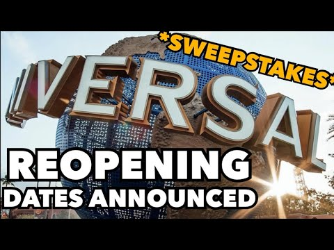 *BREAKING NEWS* Universal Reopening Dates Announced + Sweepstakes Details