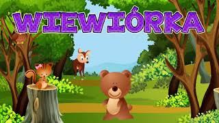 🐗Leśne zwierzęta dla dzieci -  Nauka zwierząt dla dzieci po polsku - Zwierzęta lasu