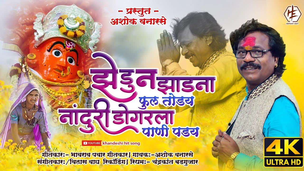 नांदूरी डोंगर ला पाणी पड़य || Ashok Vanarase Khandeshi Song || Aahirani Saptshrungi Devi Song