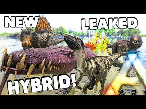 ARK Survival Evolved - NEW LEAKED DINO HYBRID LIOMOSAURUS! FEATHERED DAKOTARAPTOR ( Gameplay )