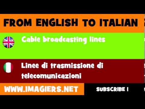 How to say Cable broadcasting lines in Italian