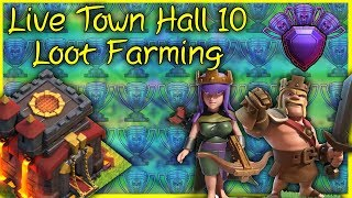 🔴 Road To Max Town Hall 10 [TH10] | Base Reviews | Mass Miner Attacks - LIVE Clash of Clans