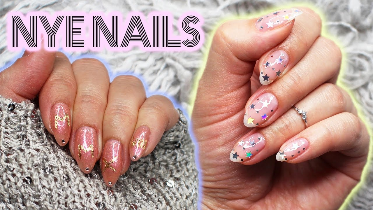 Two Last Minute Nye Nail Designs New Years Eve 2017 Youtube