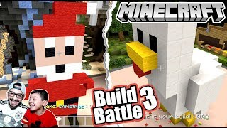 El Mejor Santa Claus de Minecraft | Minecraft Build Battle #3 | Juegos Karim Juega