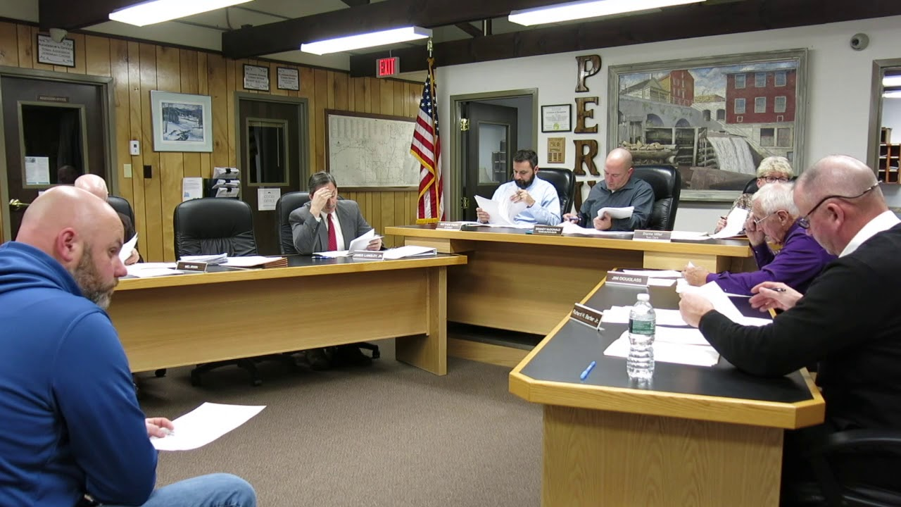 Peru Town Board Meeting  11-14-19