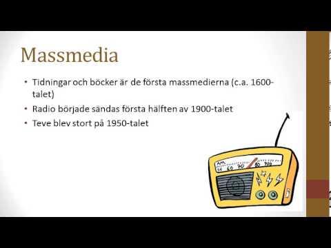 Massmedia och masskommunikation