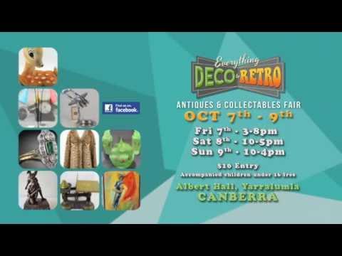 Canberra Deco to Retro Fair 7-9 October 2016
