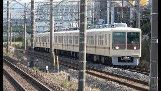京成千葉線を走行する新京成電鉄8000形 2018年10月31日