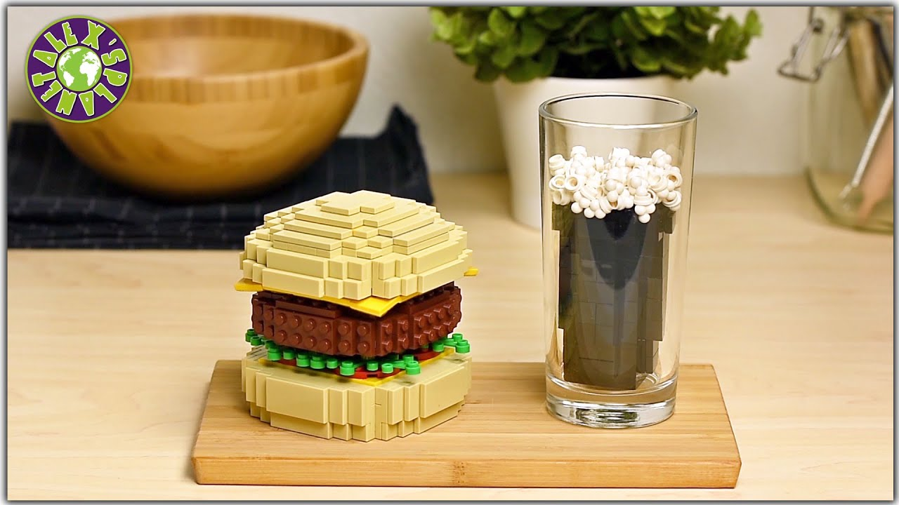 Download LEGO in real life. Stop Motion Cooking LEGO Burger. ASMR.