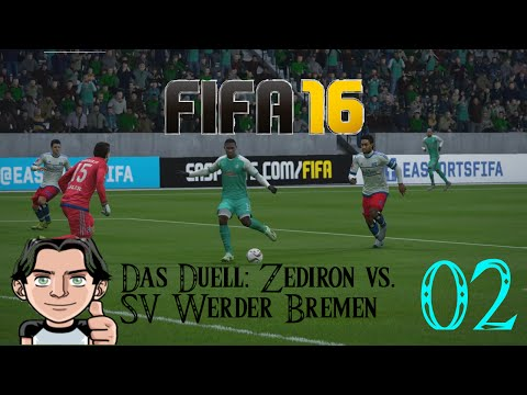 SV Werder Bremen vs. Zediron, Bundesliga-Duell in FIFA 16, Lets play, german
