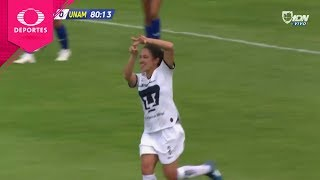 Gol de Dirce Delgado | Cruz Azul 2 - 1 Pumas | Ap 2019 - J2 - Liga Mx Femenil | Televisa Deportes
