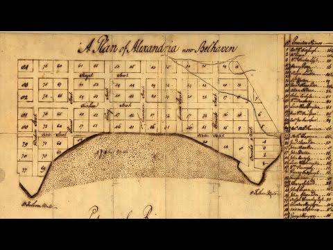 Alexandria Virginia History and Cartography (1748 - 1749)