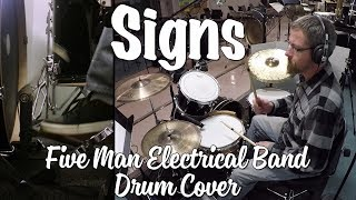 "Free sheet music for subscribers! http://www.redeyepercussion.com/ five man electrical band - signs from the 1970 album ""good-byes and butterflies"" is co..."